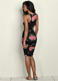 Back View Ruched Tank Dress