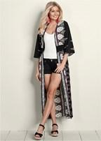 printed duster kimono top