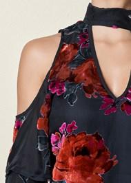Alternate View Cold Shoulder Ruffle Dress