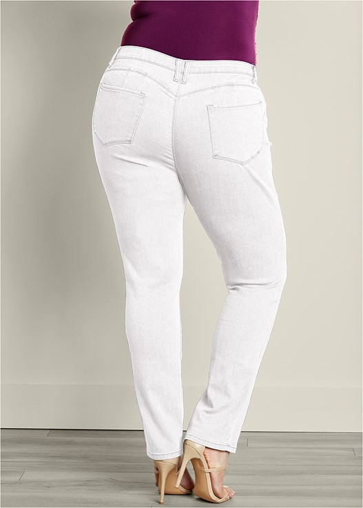 a478b4a458a Plus Size BUM LIFTER JEANS in White Denim