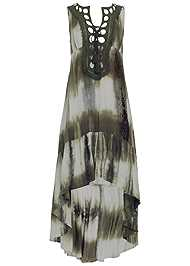 Alternate View Tie Dye Lace Up Dress