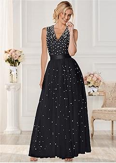 pearl detail dress