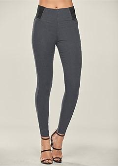 stretch jean leggings
