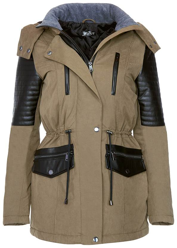 ALTERNATE VIEW Faux Leather Detail Jacket