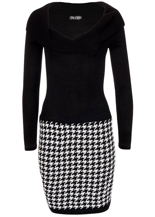 Alternate View Printed Sweater Dress