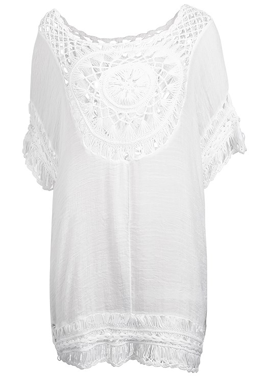 ff32aec5ec1 Plus Size CROCHET DETAIL COVER-UP Cover Up