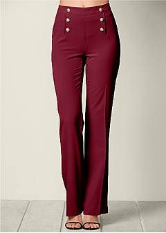 slimming flare pants