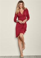 side ruffle dress