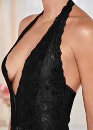 Alternate View Lace Deep V Bodysuit