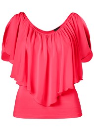 Alternate View Cold Shoulder Flutter Top