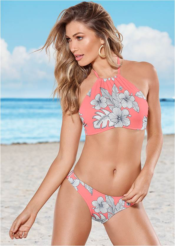 Low Rise Classic Bikini Bottom ,Goddess Enhancer Push Up Halter Top
