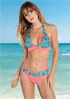 retro belted bikini bottom