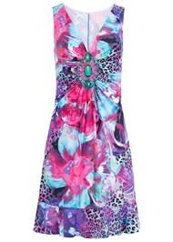 Alternate View Embellished Print Dress