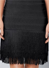 Alternate View Bandage Fringe Dress