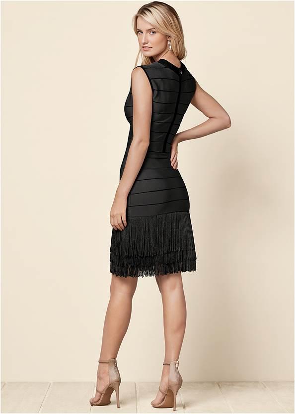Back View Bandage Fringe Dress