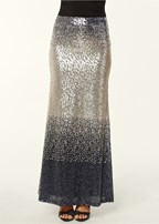 sequin ombre long skirt