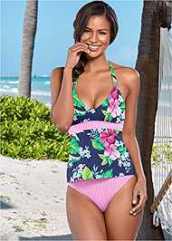 Front view Mid Rise Hipster Classic Bikini Bottom