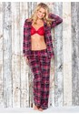 Front View Cozy Button Down Pajama Set