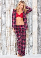 cozy button down pajama set