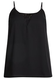 Alternate View Lace Inset Sleeveless Top