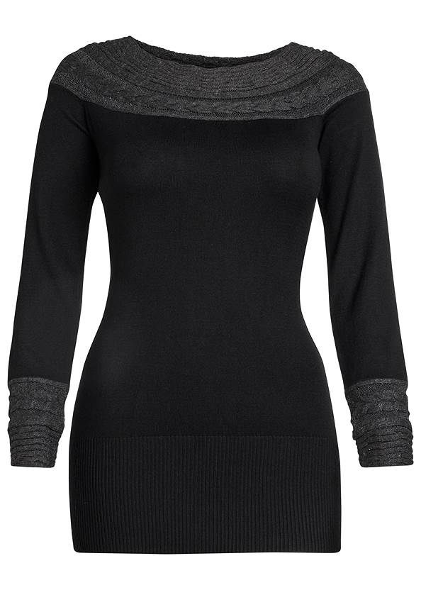 Alternate view Cable Detail Tunic Sweater