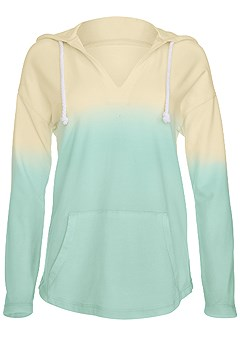 plus size ombre hooded sweatshirt