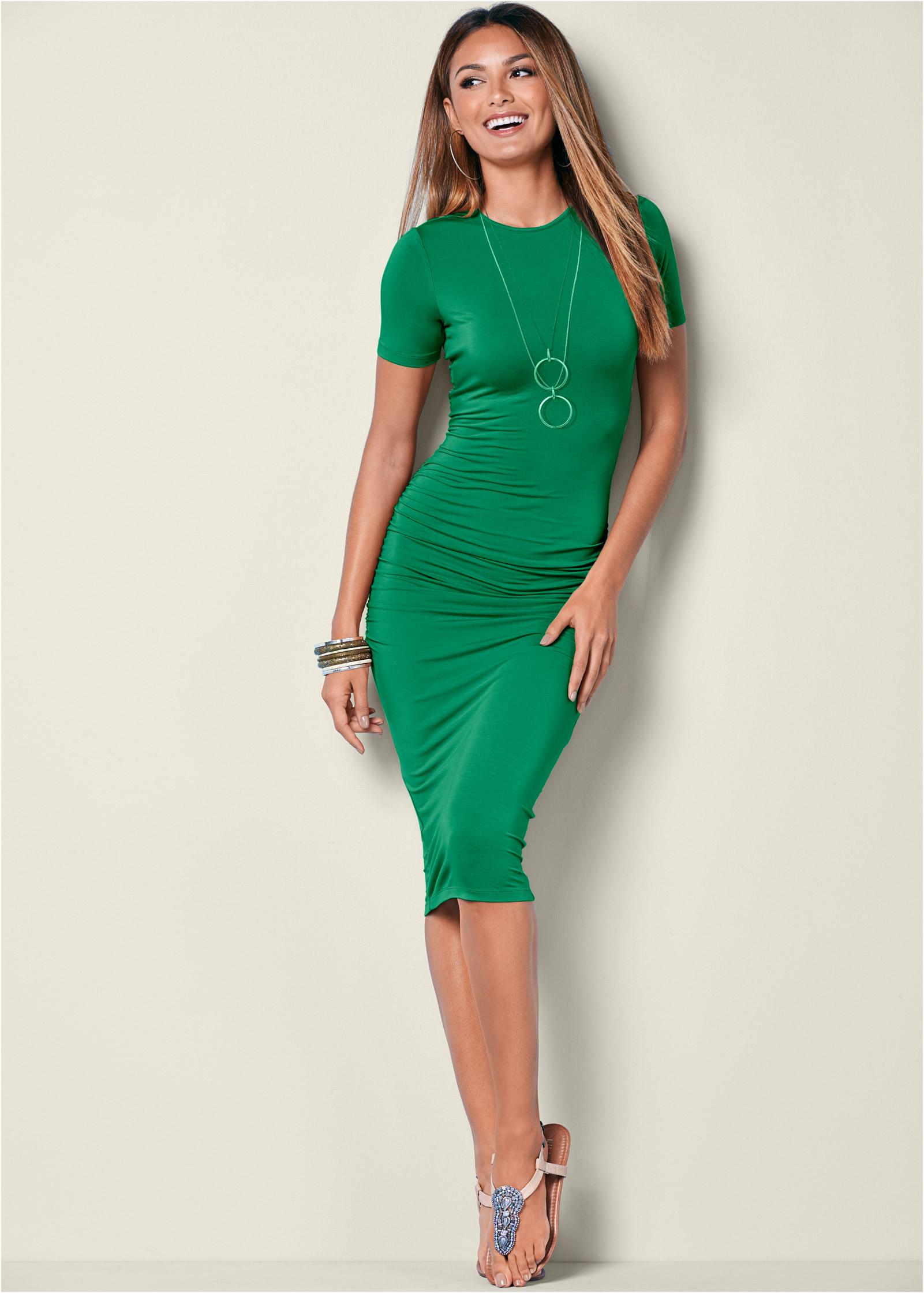 Dark Green Martini Dress