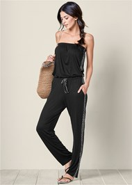 Front view Casual Strapless Jumpsuit