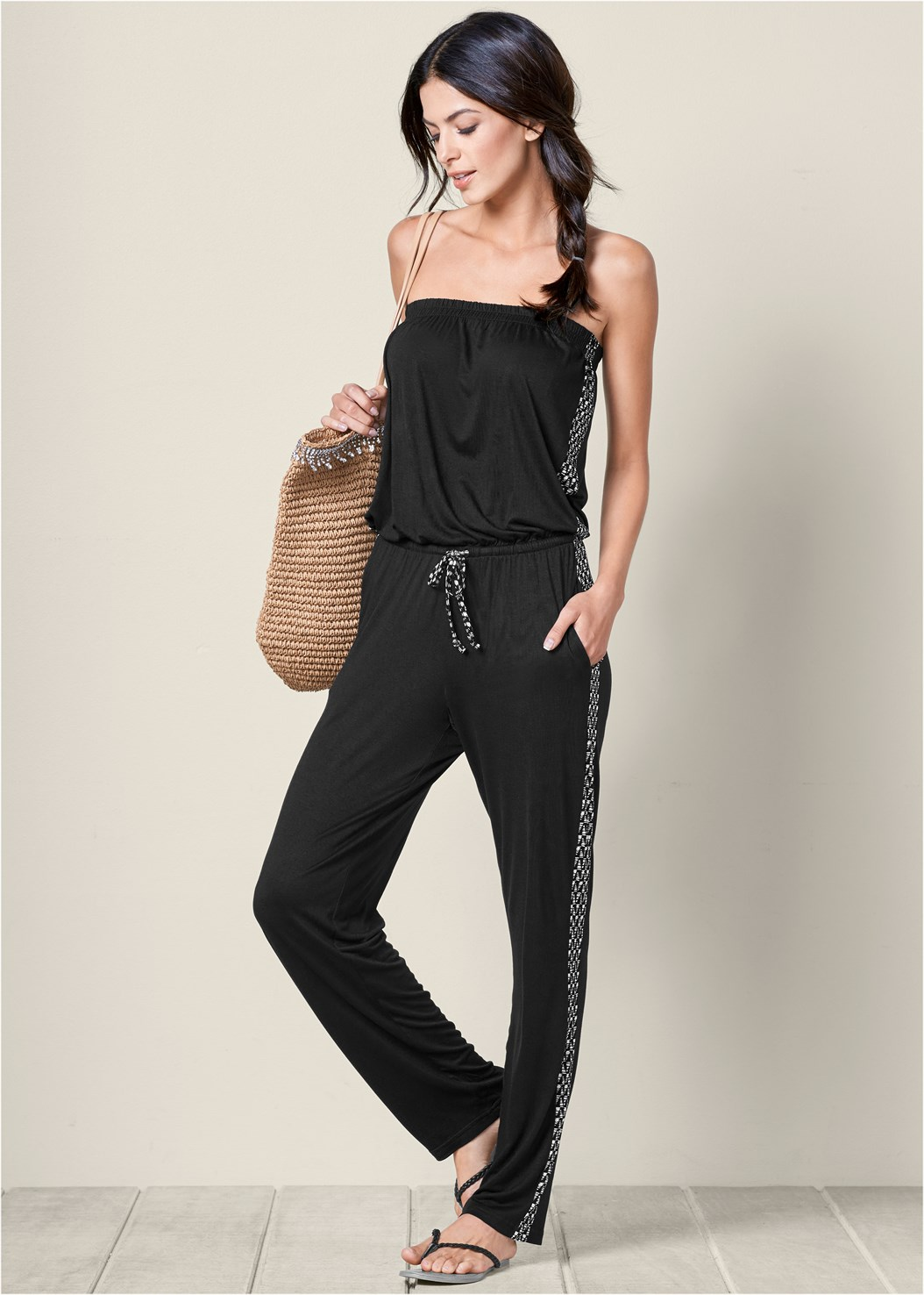 Casual Strapless Jumpsuit