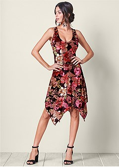 floral burnout dress