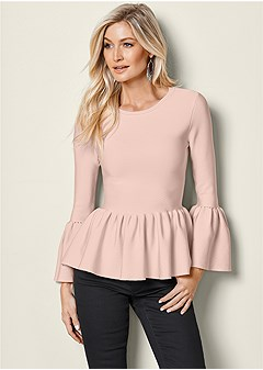 peplum sweater top