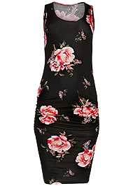 Alternate View Ruched Tank Dress