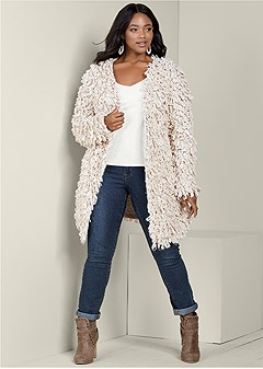 plus size cozy cardigan