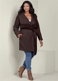Plus Size Fringe Detail Outerwear