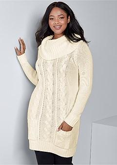 plus size cozy sweater dress