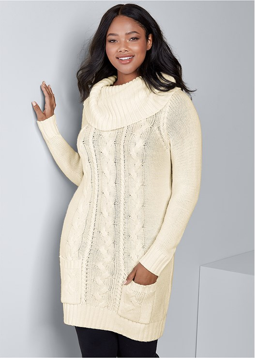 Plus Size COZY SWEATER DRESS | VENUS