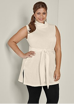 plus size turtleneck tunic sweater