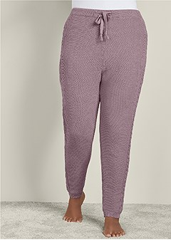 plus size lined sweater lounge pant