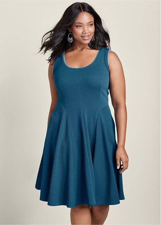 Plus Size Fit And Flare Knit Dress Venus