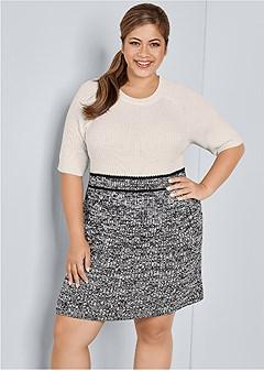 plus size short sleeve sweater dress