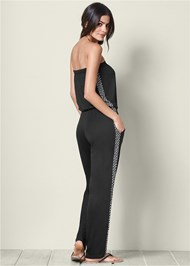 Back view Casual Strapless Jumpsuit