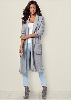 whipstitch detail duster