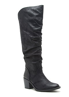 slouchy mid calf boots