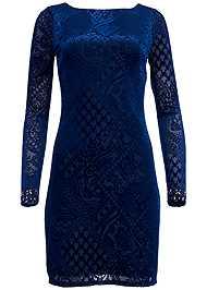 Alternate view Burnout Jeweled Dress