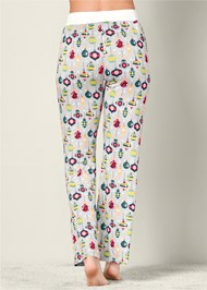 Back view Printed Pajama Pants