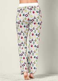 Back view Printed Pajama Pants