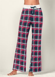 Front View Printed Pajama Pants