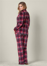 Back view Cozy Button Down Pajama Set