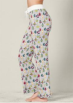 printed pajama pants