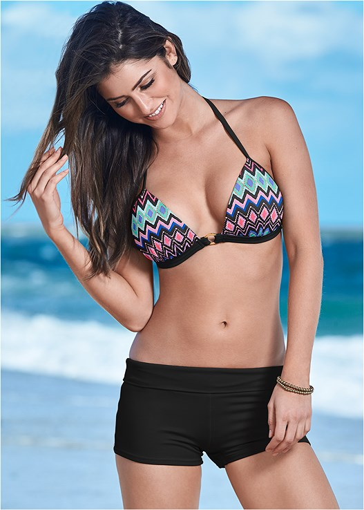ENHANCER PUSH UP TRIANGLE,SWIM SHORT,TIE SIDE BIKINI BOTTOM,SCOOP FRONT BIKINI BOTTOM,ALLURING HIGH WAIST BOTTOM
